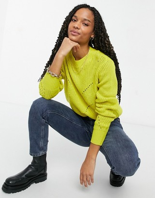 B.young round neck jumper in yellow