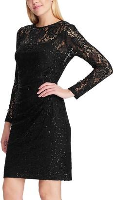 Chaps Women's Draped Sheath Dress