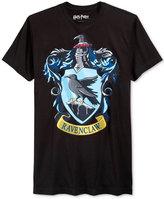 Bioworld Men's Harry Potter Hogwarts Ravenclaw Crest Graphic-Print T-Shirt
