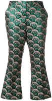 L'Autre Chose patterned kick flare trousers