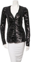 Rachel Zoe Sequined V-Neck Cardigan w/ Tags