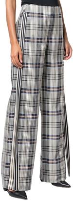 Monse Racing Stripe Vintage Plaid Pant