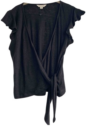 Whistles Black Linen Top for Women