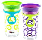 Sassy 2-Pack 9 oz. Grow Up CupTM in Green/Purple