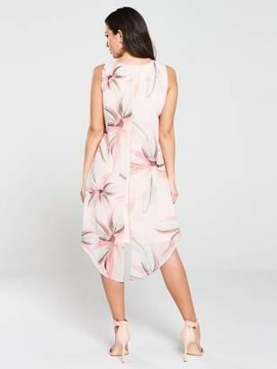 Wallis Vivid Bloom Split Front Dress - Blush