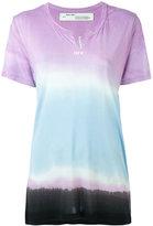 Off-White tie-dye print T-shirt - women - Modal - XS