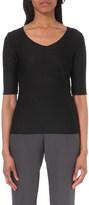 Armani Collezioni Wave-pattern jersey top
