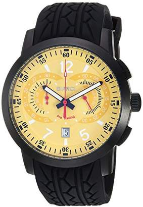 Roberto Bianci WATCHES Men's Lombardo Stainless Steel Quartz Watch with Rubber Strap
