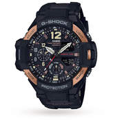 G-Shock Casio Men's Aviator Master Of G Vintage Black And Alarm Chronograph Watch