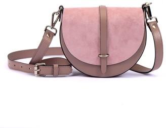 Atelier Hiva Mini Arcus Leather Bag Nude & Baby Pink Suede