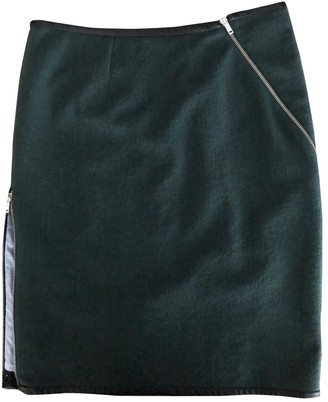 Band Of Outsiders Green Wool Skirt for Women
