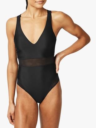 Sweaty Betty Lido Mesh Swimsuit, Black