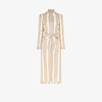ODYSSEE Striped Belted Shirt Dress