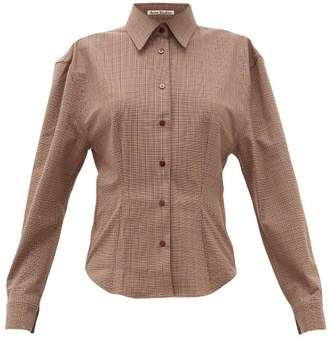 Acne Studios Sovilla Checked Twill Slim-fit Shirt - Womens - Brown Multi
