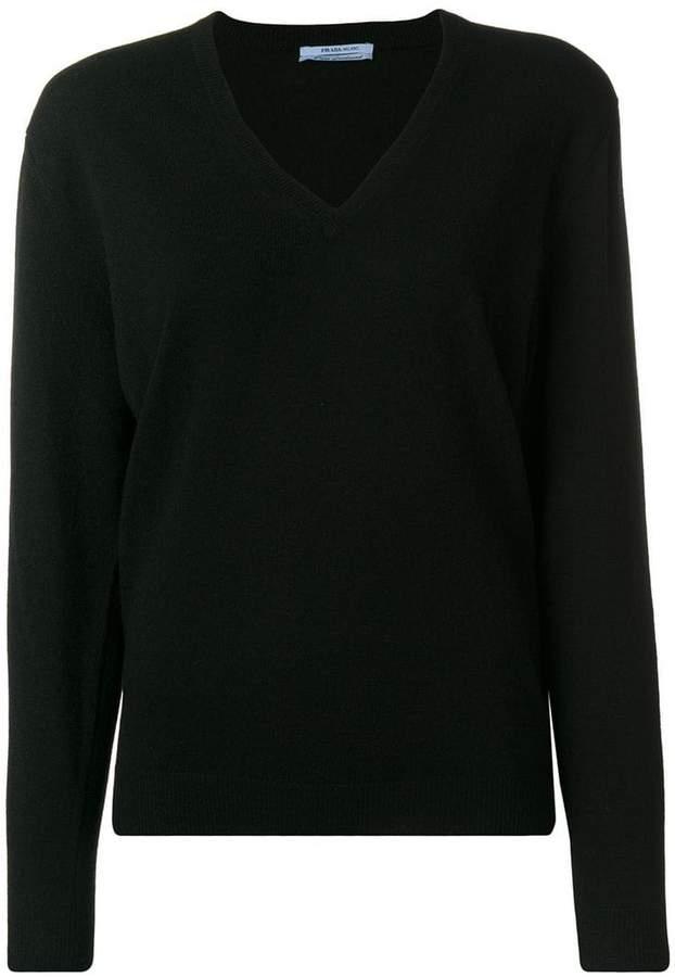 Prada V-neck slim-fit jumper