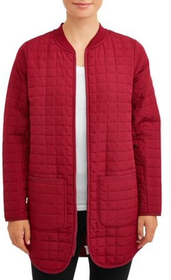 Athletic Works Women's Quilted Tunic Jacket