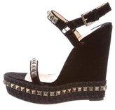 Christian Louboutin Velvet Platform Sandals