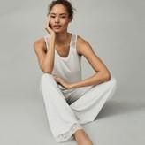 The White Company Leaf Lace-Back Pyjama Set, Cloud, Medium