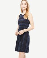 Ann Taylor Texture Stitch Flare Dress