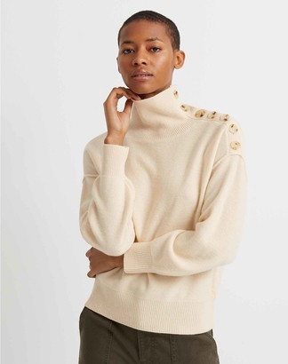 Club Monaco Button-Neck Cashmere Sweater