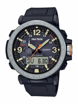 Casio Men's PRO TREK Stainless Steel Japanese-Quartz Watch with Resin Strap