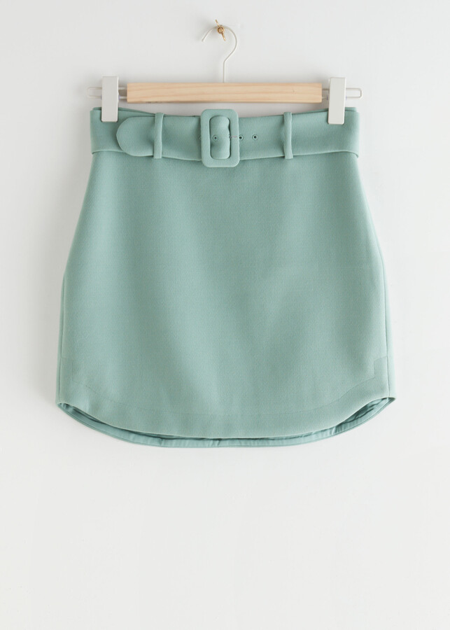 Thumbnail for your product : And other stories Buckle Belt Mini Skirt