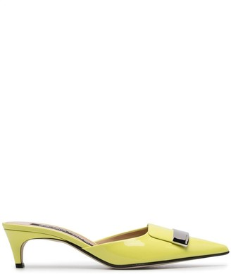 Sergio Rossi Pointed Toe Mules