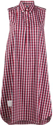 Thom Browne Check-Print Shirt Dress