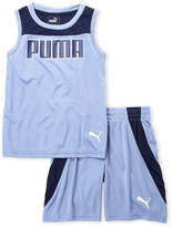 Puma Boys 4-7) Two-Piece Logo Tank & Basketball Shorts Set
