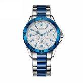 Julius Men's Quartz Watch Multi-Function Luminous Dial Stainless Steel Watch Band [JAH095B ]