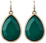 Target Distributed Women's Faceted Teardrop Earring - Green/Gold
