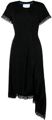 Koché Lace-Trim Asymmetric Dress