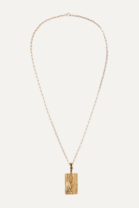 LEIGH MILLER Net Sustain Erte Gold-plated Amethyst Necklace