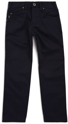 Emporio Armani Kids Straight Logo Tape Jeans (4-16 Years)