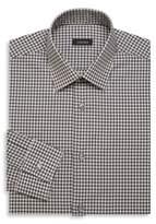 Z Zegna Gingham Cotton Dress Shirt
