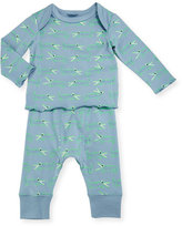 Stella McCartney Buster Macy Alligator Pajama Top & Pants, Blue, Size 9-18 Months