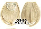 Fashion Clip-In Front Hair Extension Straight Synthetic Hair Fringe Bang Hairpiece (#M18/613)