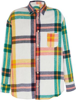 The Elder Statesman Tartan Woven Button-Up Shirt