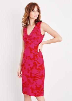 Phase Eight Zennor Floral Fitted Ponte Dress