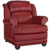 Asstd National Brand Winston Chair Faux Leather Roll-Arm Chair