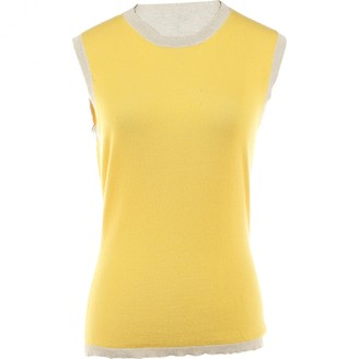 Celine Yellow Cashmere Tops