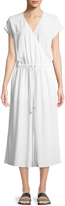 Eileen Fisher Petite Crepe Cropped Jumpsuit