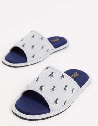 Ralph Lauren antero slipper slides grey