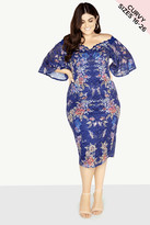Little Mistress Curvy Floral Lace Dress