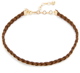 Vanessa Mooney Braided Suede Choker Necklace