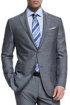 Ermenegildo Zegna Milano Easy Herringbone Two-Piece Suit, Gray