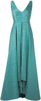 Talbot Runhof pleated skirt evening gown - women - Cotton/Polyamide/Polyester/Cupro - 34