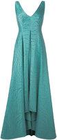 Talbot Runhof pleated skirt evening gown