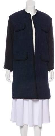 Chanel Tweed Open Front Coat