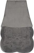 Rochas Embroidered silk-organza midi skirt